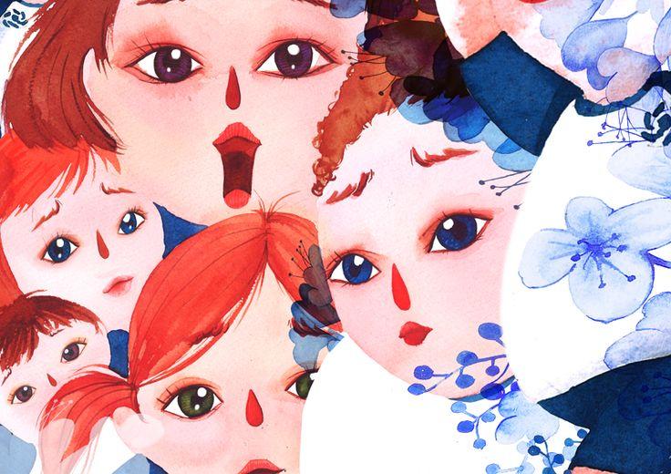 얼굴,놀람,표정,당황,걱정,일러스트,그림,삽화,동화책,그림책,운동복,꽃,체육대회,아이들,학생,어린이