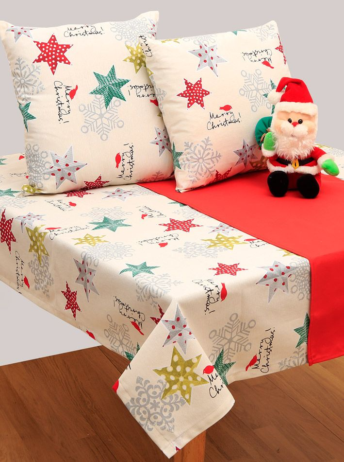 Χριστουγεννιάτικο τραπεζοκαρέ Σχ.4430 Εκρού