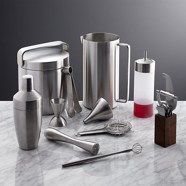 Prepare drinks in style with home bar accessories from Crate and Barrel. Our bar tools make it easy to make the perfect drink, no matter the occasion.