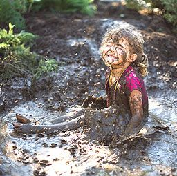 Reminds me of playing in the mud when I was little...I'd always come in looking…
