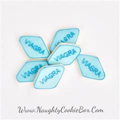 The Naughty Cookie Box | Delicious Treats with a Naughty Twist! Little Blue Pill (Viagra) Cookies Www.NaughtyCookieBox.Com Sometimes a Boost is all you Need!