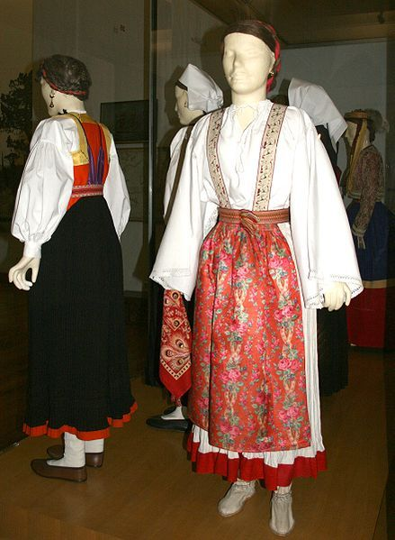 Croatian national dress from the island of Olib