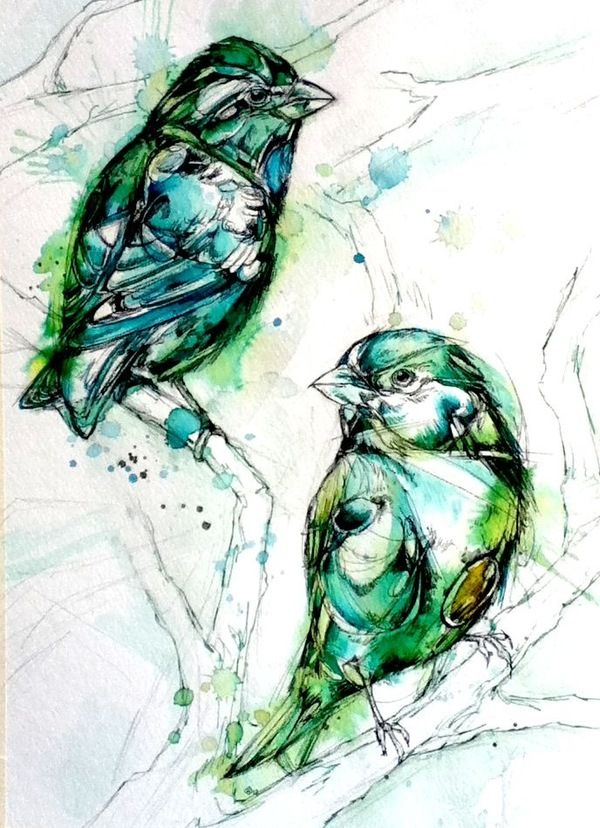 Shades of Green by Abby Diamond, via Behance