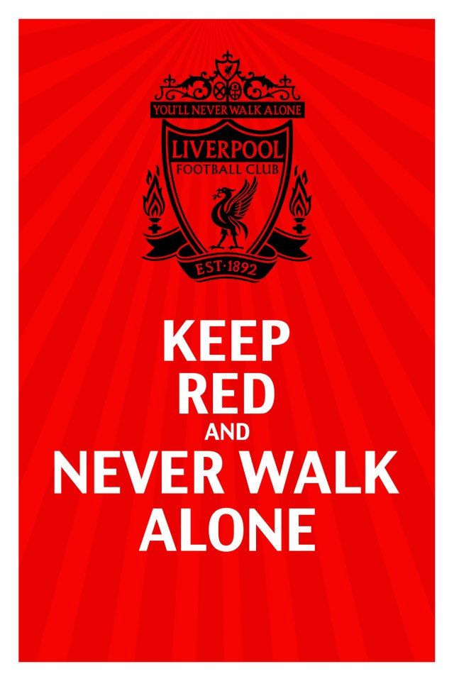 Liverpool FC Keep Calm Poster. $25.00, via Etsy. Size: 24x36 on glossy paper.