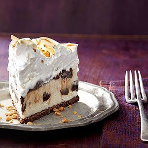 Eggnog and Rum Fudge Pie Frosted m Better Homes and Gardens, ideas and improvement projects for your home and garden plus recipes and entertaining ideas.