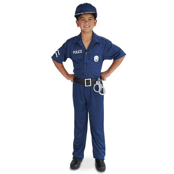 Kids Police Officer Costume, Boy's, Size: 8-10, Multicolor