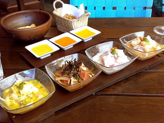 degustação de ceviche - restaurante La Mar