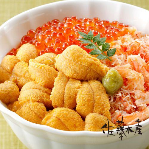 利尻礼文産 塩水うに(エゾバフンウニ)、ウニ丼 : 北海道 佐藤水産の ... 画像を拡大する
