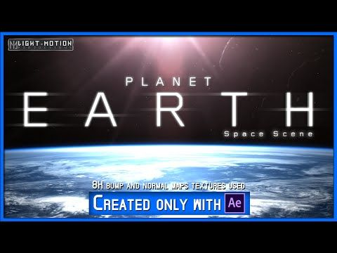 (2) After Effects: Realistic Planet EARTH HD (Space Scene) - YouTube