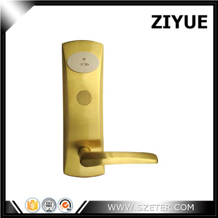 Free Shipping High Quality Digital electric Hotel lock Brass Hotel Safe Lock RFID hotel card lock ET803RF