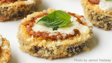 giada's eggplant bites. great for parties