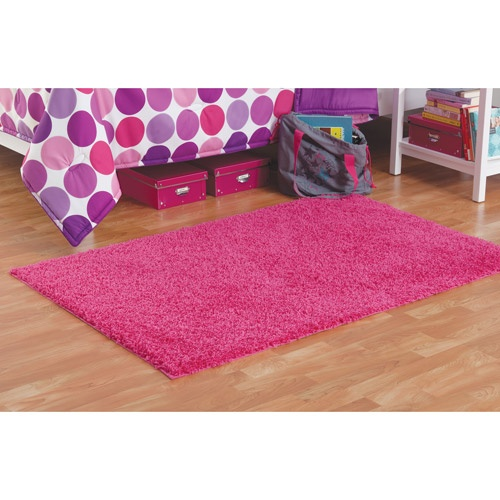 Walmart Your Zone Shag Rug, Racy Pink, X