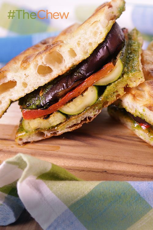 Fire up the grill and throw some summer veggies on! Make this tasty Grilled Vegetable Focaccia Sandwich that the whole family is sure to enjoy!