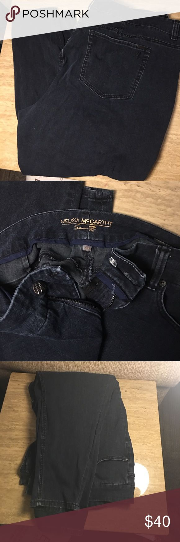Melissa McCarthy 4 way stretch skinny jeans. Lane Bryant 4 way stretch Seven Brand Melissa McCarthy Jeans. Dark Blue rinse. Skinny jeans. Worn and washed 3 times. Very comfortable! Melissa McCarthy Jeans Skinny