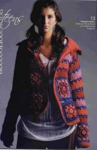 Granny Square jacket - idea (there is a chart but its kinda to small to see): Hook, Rincon De, Crochet Granny Squares, Pattern, Crochet Fabric, Saco Con, Mi Rincon, Photo, Crochet Clothing