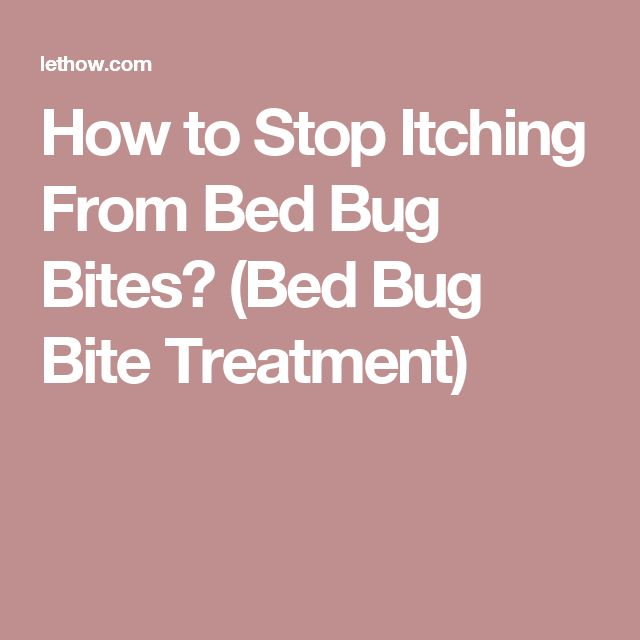 How to Stop Itching From Bed Bug Bites? (Bed Bug Bite Treatment)