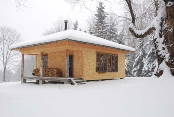 91 best micro cottages images on pinterest small houses for Winter cabin plans