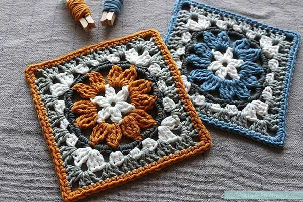 Anemone Granny Square Crochet Pattern (FREE) - http://pinterest.com/Allcrochet