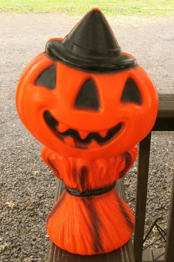 Halloween Traditie.Vtg 13 Tpi Halloween Jack O Lantern Pumpkin Lighted Blow Mold Yard Decor