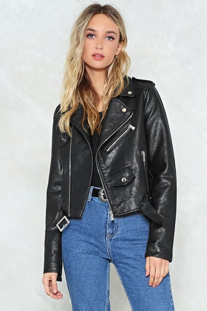Bad Motor Vegan Leather Moto Jacket