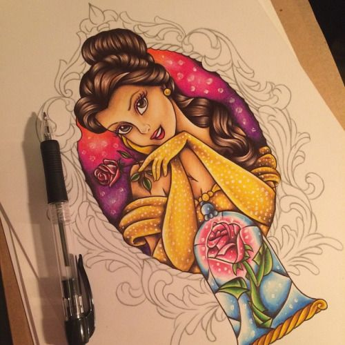 scenenew.com Beauty And The Beast Belle Tattoo