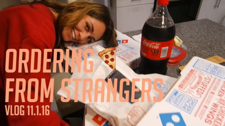 Ordering pizza from strangers