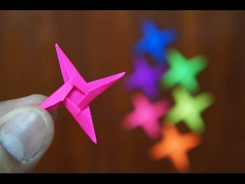 Mini Origami - How to make Mini Star Origami (Version 4.1) (Ninja Weapon) - YouTube
