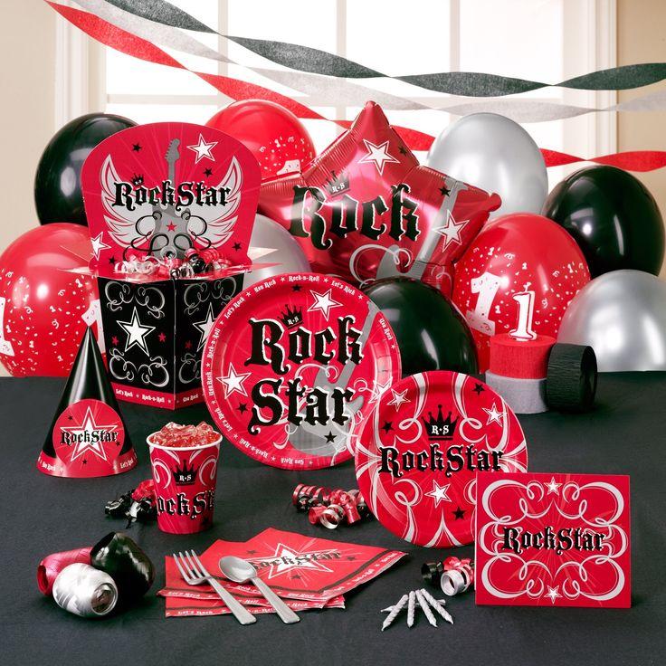 One rocks -Rockstar - first birthday -theme