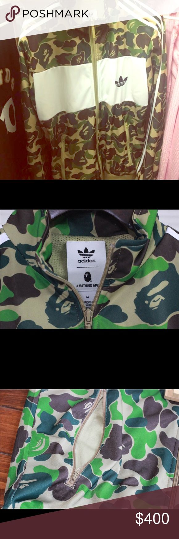 Selling this Adidas x Bape A Bathing Ape Firebird Jacket on Poshmark! My username is: rebeccalmorris. #shopmycloset #poshmark #fashion #shopping #style #forsale #Adidas #Jackets & Blazers OPEN TO OFFERS !!!!