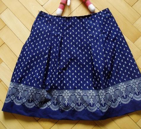 Modrotisk skirt by jan-ul