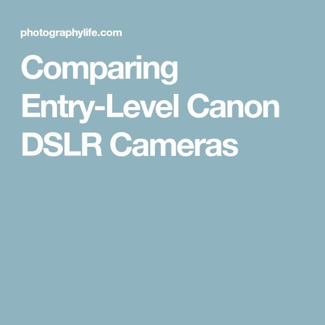 Comparing Entry-Level Canon DSLR Cameras