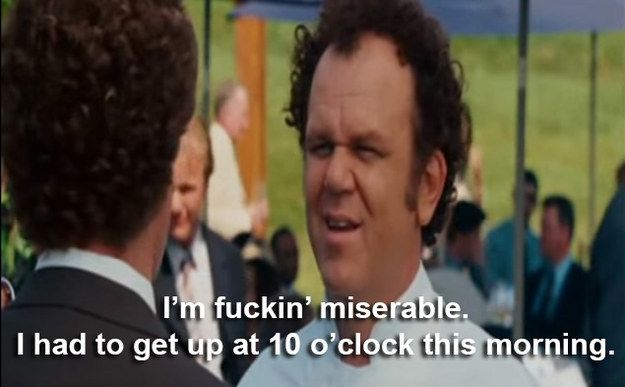 """It's actually pretty relatable. 