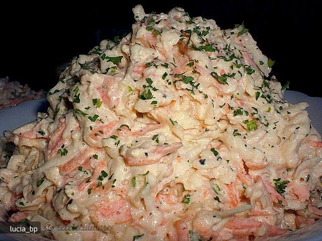 salata de telina, morcov, mar cu maioneza
