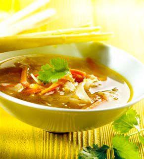 Thaise soep met spitskool en maïs