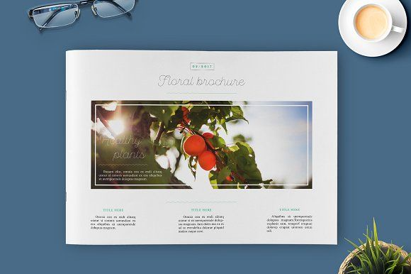 Floral Brochure by Kahuna Design on @creativemarket