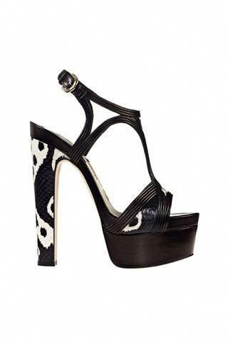 93acfbcd78 Brian Atwood Black & White Ultra High Platform Sandal Spring 2014 #Shoes # Heels #BrianAtwood #BrianAtwoodHeels