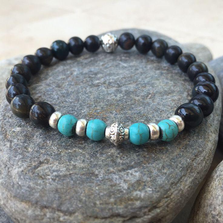 Men's gemstone bracelet, beads bracelet, men's stone bracelet, mens Jewelry, pulsera para hombre, pulsera de cuentas by EgluzeEgluze on Etsy https://www.etsy.com/listing/236213112/mens-gemstone-bracelet-beads-bracelet