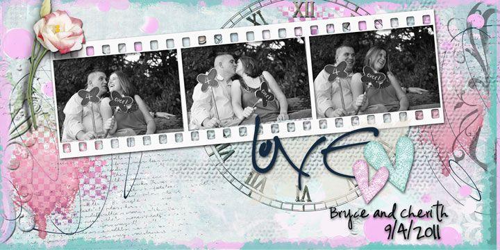 Love . My latest digital layout