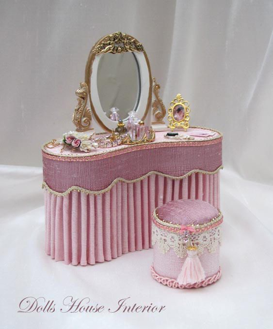 Miniature beautiful vanity - Dressed Furniture