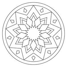 easy mandala coloring pages # 2