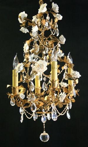 Join. All vintage chandolier hanging porcelain roses remarkable, very