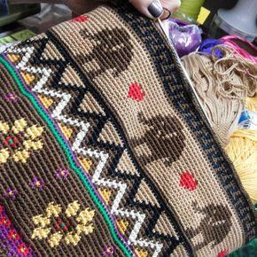 Canto do Pano Artesanato: Minha segunda bolsa inspirada no modelo Wayuu