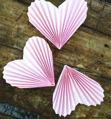 ❤ Papír szív füzér harmonika hajtással egyszerűen  ❤Mindy -  kreatív ötletek és dekorációk minden napra