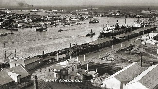 Port Adelaide, as pictured in 1909.