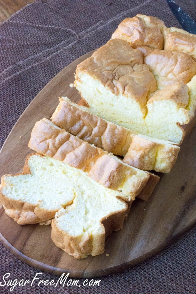 Low Carb Cloud Bread Loaf or rolls- gluten free, grain free, keto- http://sugarfreemom.com