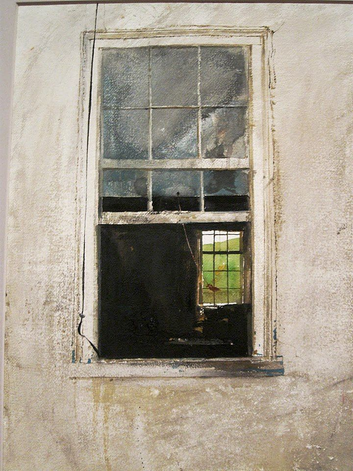 Andrew Wyeth (1917 — 2009, USA) Airing Out. 1969 watercolor on paper. 30.5 x 22 in. © Andrew Wyeth