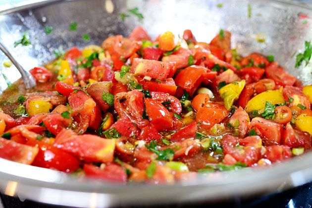 Missy's marinated tomatoes which have me salivating. by Ree Drummond ...