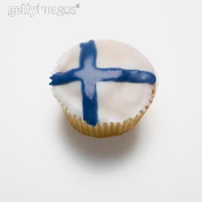 Aww Finland flag cupcake!