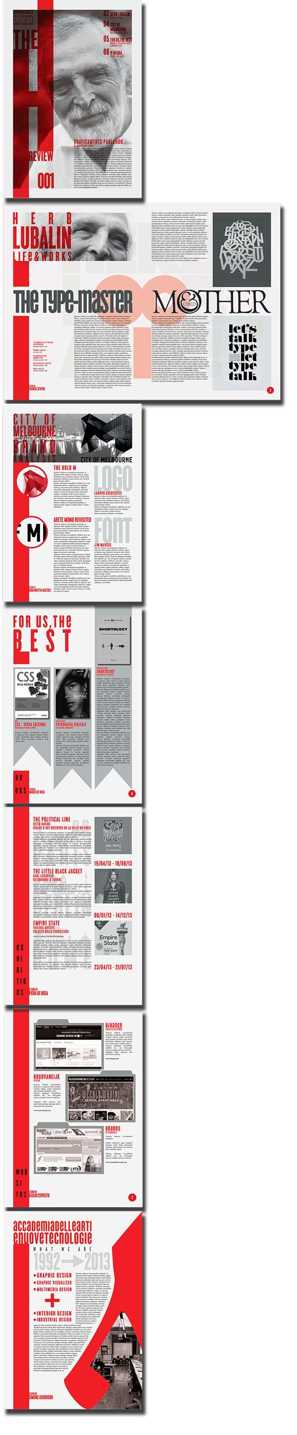 The H Review - Tabloid | Editorial Design | by Eugenio De Riso, via Behance