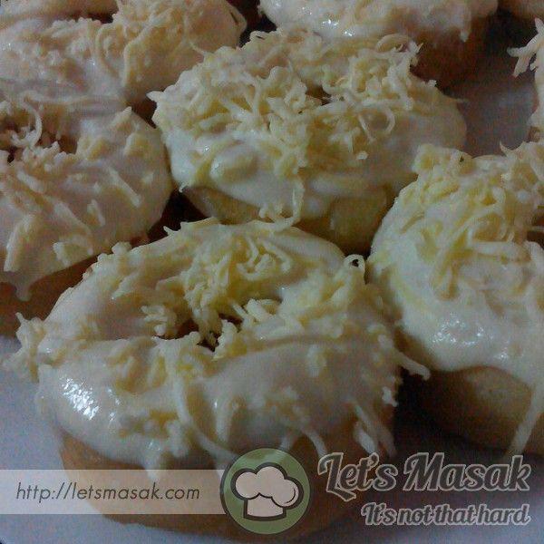 Resipi / Resepi Donut Cheese Leleh - Resepi ciptaan sendiri. Sangat sedap bagi penggemar cheese tegar :D